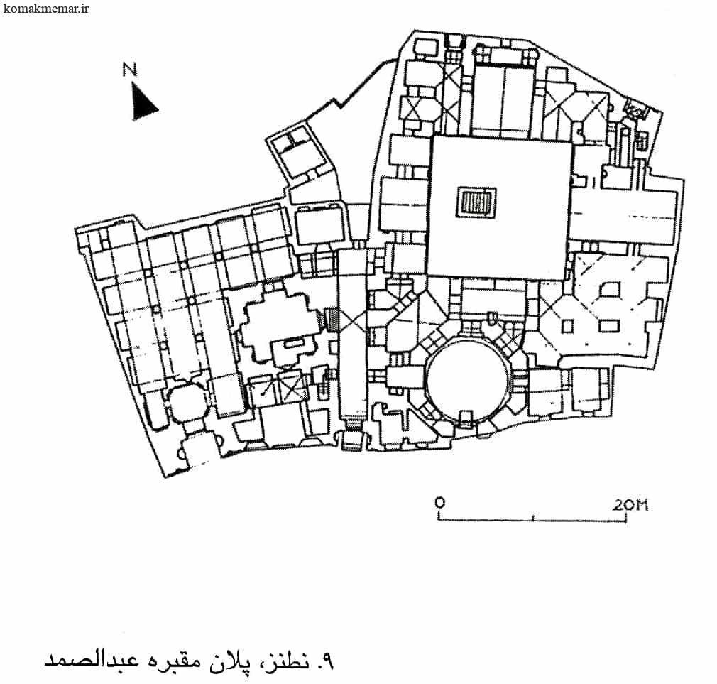 پلان مقبره عبدالصمد
