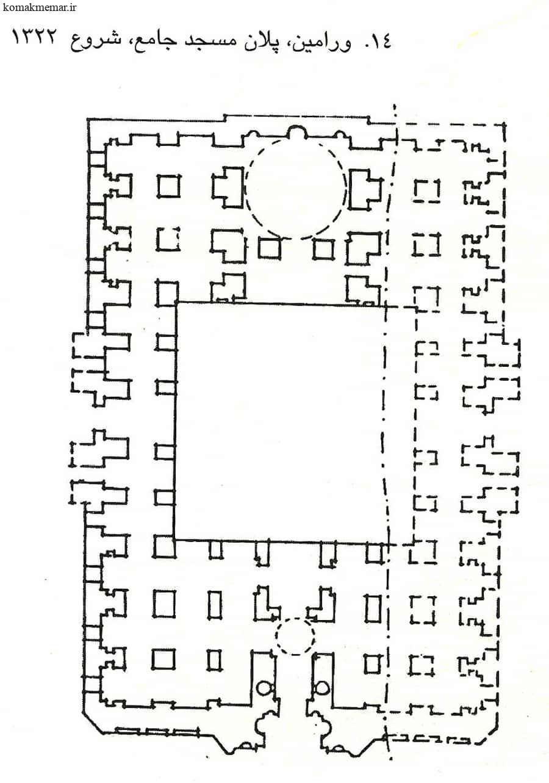 ورامین پلان مسجد جامع