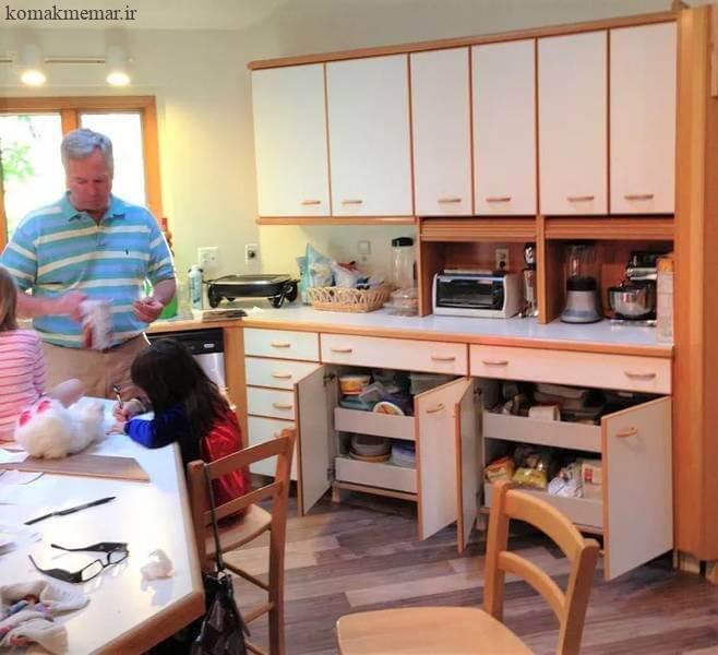 بازسازی آشپزخانه با عکس های قبل و بعد