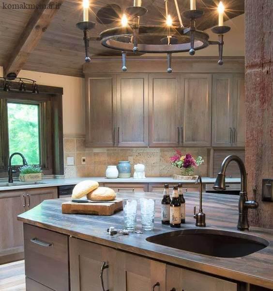 کابینت های آشپزخانه از چوب بلوط