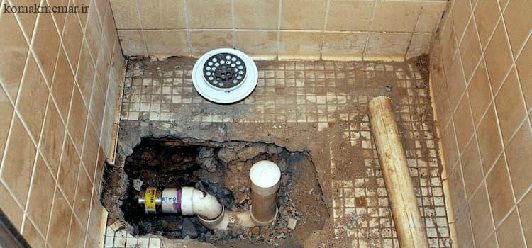 کف ضد آب سرویس بهداشتی