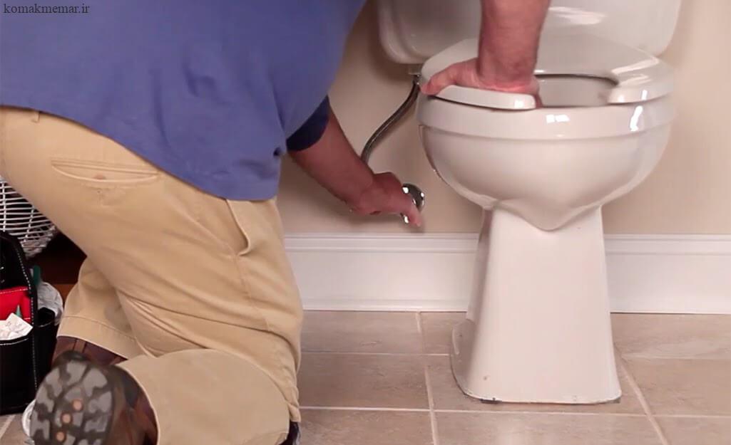 نحوهی نصب توالت فرنگی