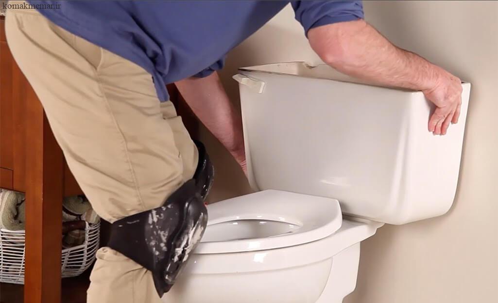 نحوهی نصب توالت فرنگی مرحله سوم