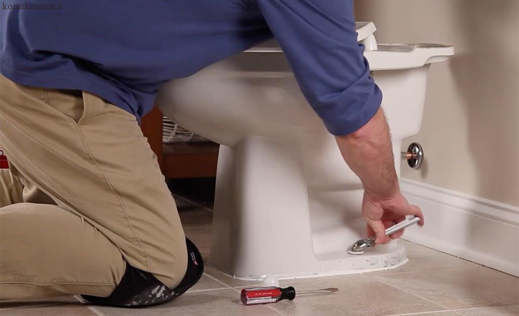 نحوهی نصب توالت فرنگی مرحله چهارم