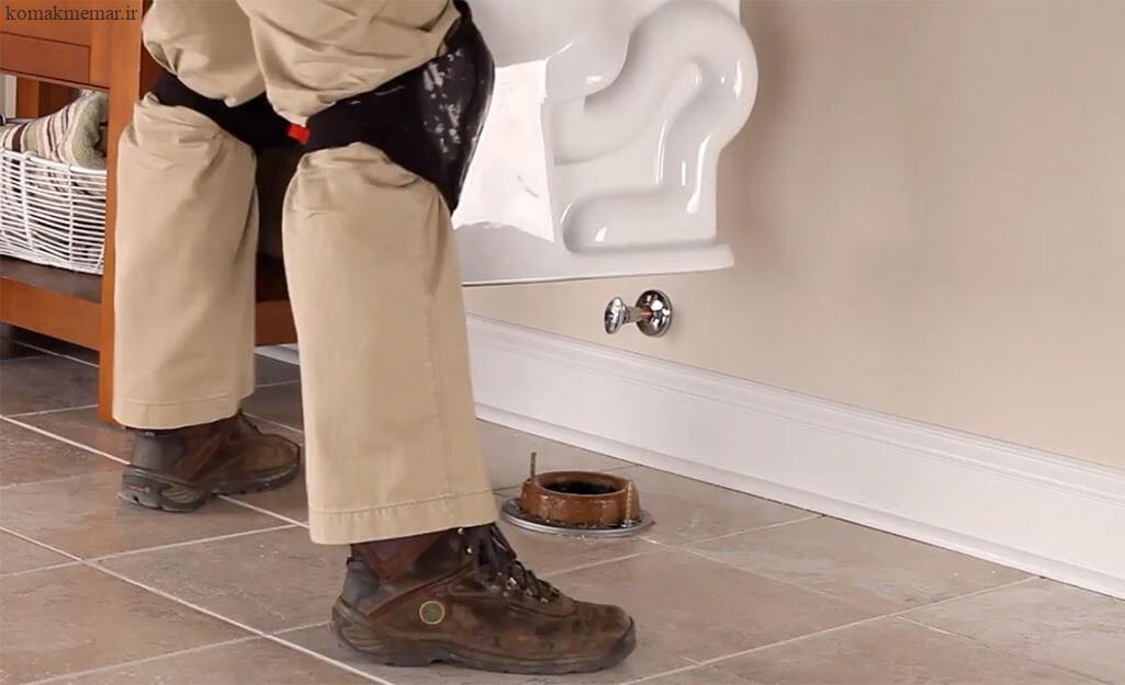 نحوهی نصب توالت فرنگی مرحله نهم