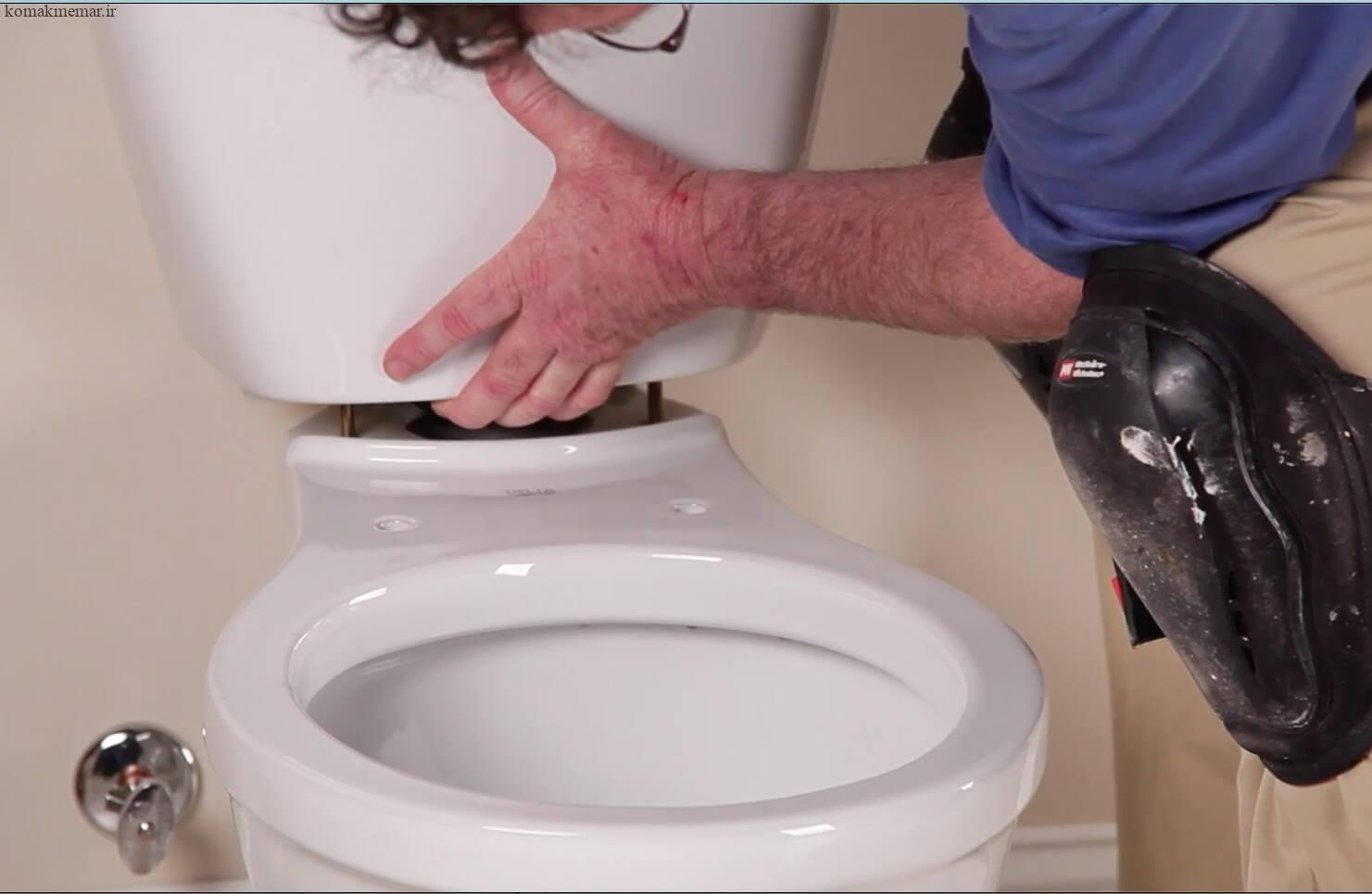 نحوهی نصب توالت فرنگی مرحله یازدهم
