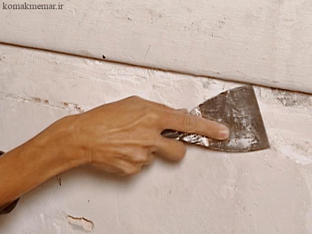 چگونه یک دیوار گچی را تعمیر کنیم.