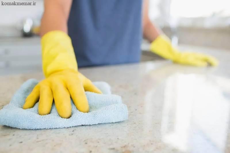 نحوه تمیز کردن آشپزخانه