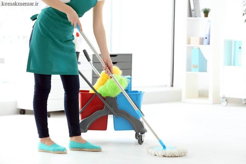 تمیز کردن سطوح عمودی