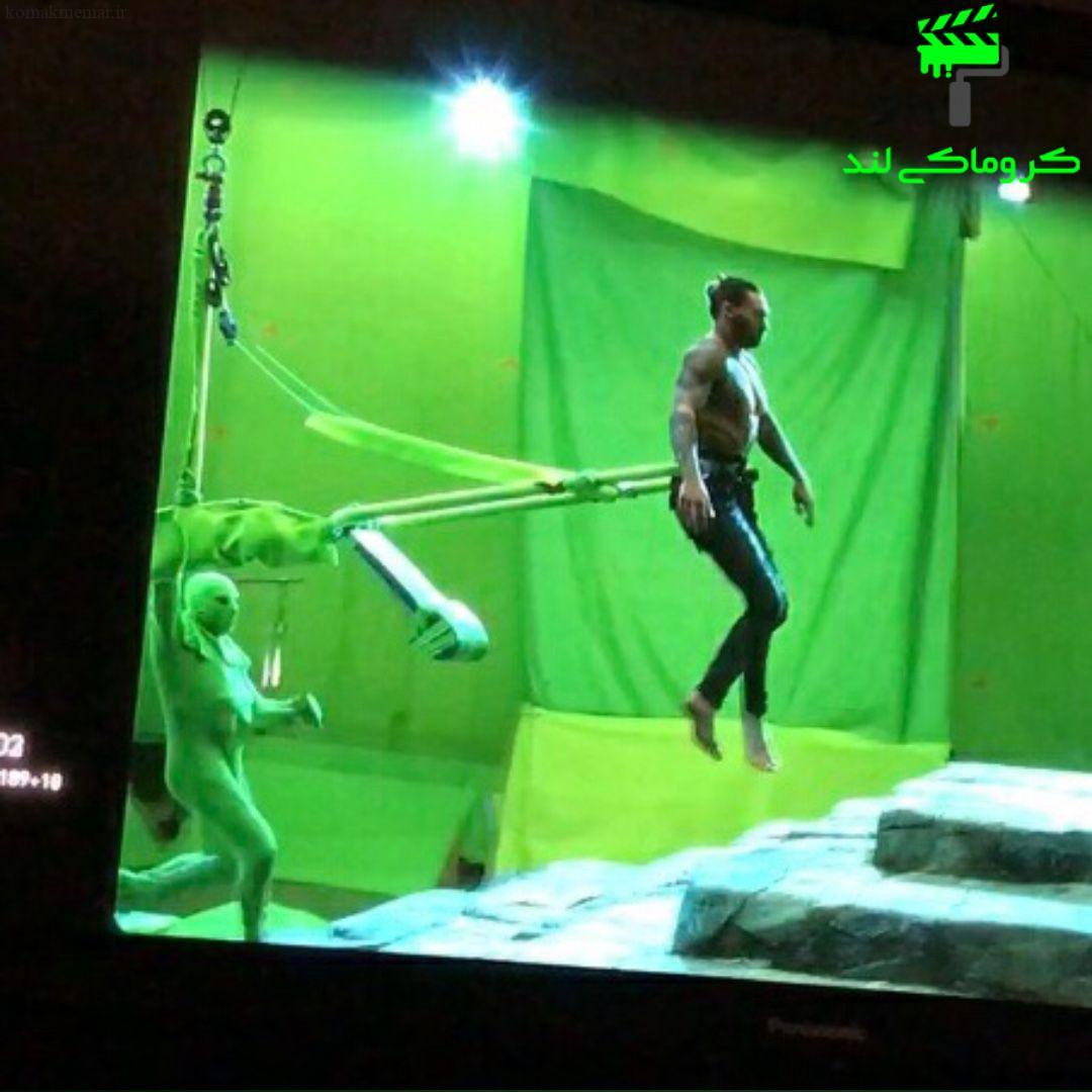 بازیگر نقش اول فیلم آکوامن در استودیو کروماکی